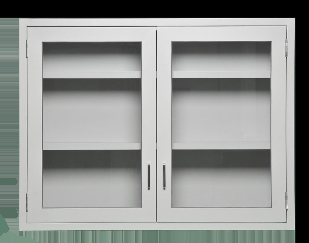 Cabinet Wall 47x36x13 2 Glass Door Looped Logic